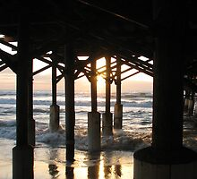 Sunrise Under the Pier by Peg Burley