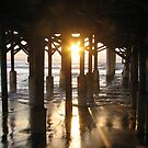 Sunrise Under the Pier 2 by Peg Burley