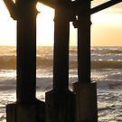 Sunrise Under the Pier 3 by Peg Burley
