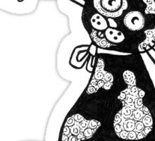 Pusskins Flutterby Tee Sticker
