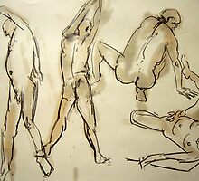 2 Minute studies of a man by Jeremy Wallace