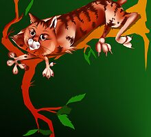 Cat Out On A limb by Lotacats