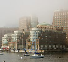 Rowes Wharf In The Mist by Craig Goldsmith