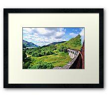 The Jacobite Across Glenfinnan Viaduct Framed Print