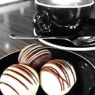 Coffee and Truffles. Black and White and Colour.  by marklincoln