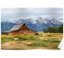 Barn in Grand Tetons Poster