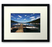 Fallen Leaf Lake Framed Print