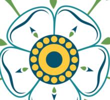 Yorkshire White Rose Sticker