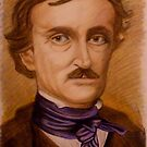 Edger Allen Poe -200th Birthday Commemorative Drawing - Anthony Mitchell by Anthony Mitchell