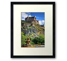 Watch out for falling rocks Framed Print