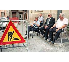 Men At Work Photographic Print