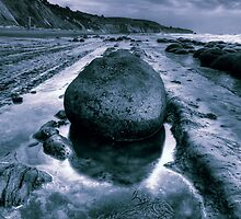 Bowling Ball Beach Blue by Vincent James