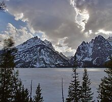 Frozen Jenny Lake - Teton National Park by Stephen Beattie