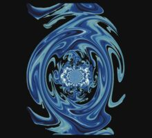 Blue Liquid-Tee by MaeBelle