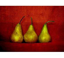 The Three Pears Photographic Print