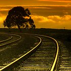 Railroad Sunset by Vincent James
