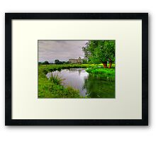 Newark Priory and a Tranquil Stream - HDR3 Framed Print
