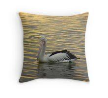 Golden Pelican-2 Throw Pillow