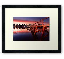 Mosman Bay Boatshed  Framed Print