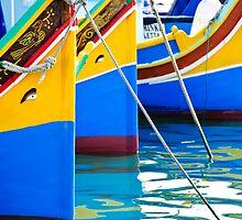 Maltese Fishing Boats Marsaxlokk, Malta by Alison Cornford-Matheson