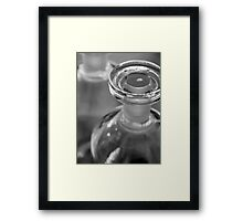 Glass Stopper Framed Print