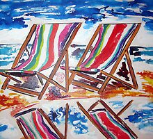Beach Chairs  by gillsart