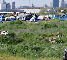Tent City, Sacramento California by Lenny La Rue, IPA