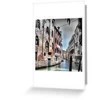 Venetian Houses. Greeting Card