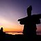 Arctic &#x27;Inukshuk&#x27; Sunset by Gina Ruttle  (Whalegeek)