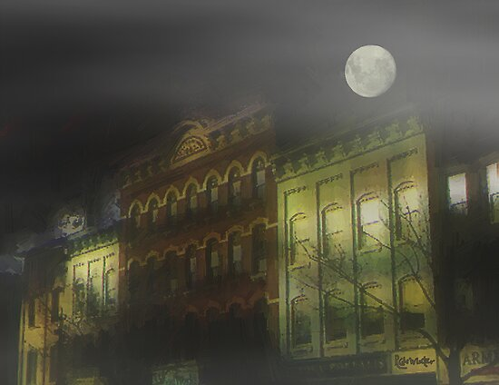 Foggy Night, Northampton by RC deWinter