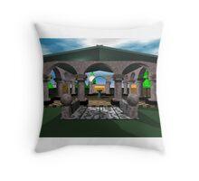 Fantasy Colonnade Throw Pillow