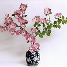 Pink Dogwood in Japanese vase by Matsumoto