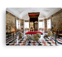 Royal throne room Canvas Print