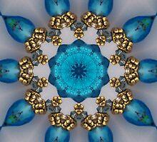 Blue and Gold Kaleidoscope by Erica Long