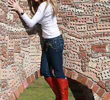 Tanya at Brickworks Park 2009 by Cathie Brooker