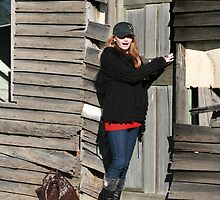 Tanya and Old House 2009 by Cathie Brooker