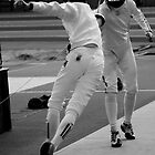 Fencing Lunge by Mel Preston