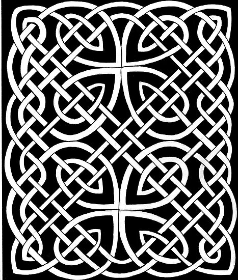 106 - PICTISH KNOTWORK PANEL - DAVE EDWARDS - INK - 1985 by BLYTHART