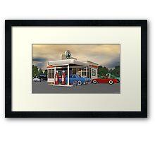 1950's Gas Station Framed Print