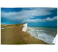 Beachy Head Cliffs and Lighthouse: East Sussex UK Poster