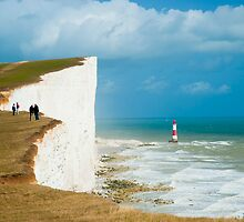 Beachy Head Clifftop and Lighthouse by DonDavisUK