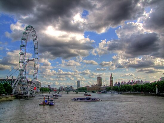 The Wheel and Westminster - HDR by Colin J Williams Photography