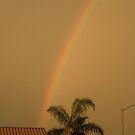 Rainbow in AZ. by Bonnie Pelton