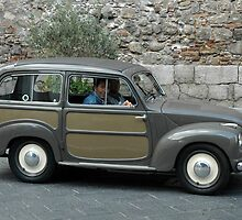 """ANTIQUE FIAT  TAORMINA, SICILY"" by Edward J. Laquale"