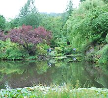 The Lake at Butchart Gardens by Cathy Jones