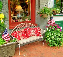 store front bench by Tracey Hampton
