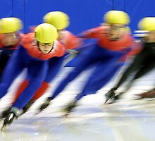 speed skaters by Jamie Roach