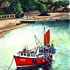 Newquay harbor by Robert David Gellion