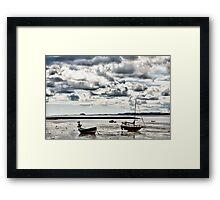 On Holy Island Framed Print