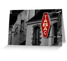 Tabac - French Tobacco Shop  Greeting Card